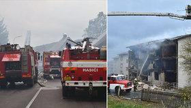 Při výbuchu domu v Lenoře na Prachaticku zemřel jeden člověk