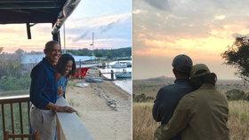 Obamovi oslavili výročí svatby. Lidé se rozplývají nad snímky, které sdíleli na internetu.