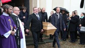 Pohřeb Markéty Výborné, manželky šéfa KDU-ČSL Marka Výborného (5.10.2019)