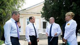 Ruský premiér Medveděv v nemocnici v Sevastopolu