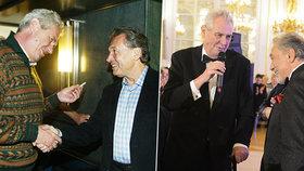 Miloš Zeman s Karlem Gottem: V roce 2020 vyznamená in memoriam Zlatého slavíka nejvyšším státním vyznamenáním