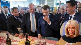 Macronovi mají rádi víno.