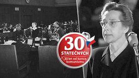 U soudu se Milada Horáková hájila, a i když měla komunisty přesně určeno, co má říkat, jednala tak, jak sama uznala za vhodné.