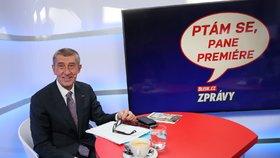 Premiér Andrej Babiš ve studium Blesku (8.10.2019)