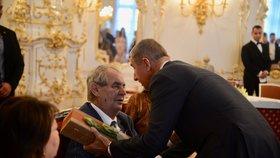Oslava 75. narozenin Miloše Zemana: Gratulace Andreje Babiše (ANO)