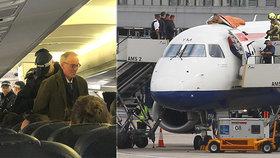 Aktivisté narušili provoz letiště. Jeden vylezl na střechu letadla, druhý protestoval na palubě.