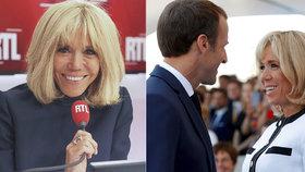 Diktát paní Macronové (66): První dáma Francie osloví studenty. Doma prý poslouchá i Macron (41).