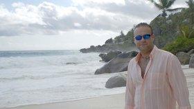 Radovan Krejčíř na Seychelách v roce 2005