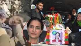 S kurdskou političkou (†35)  se přišly rozloučit zástupy lidí.