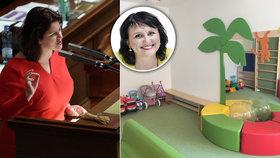 Ministryně Maláčová (ČSSD) čelila kvůli jeslím kritice poslankyně KDU-ČSL Golasowské.