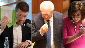 Okamura ve Sněmovně sklidil posměch, Faltýnka štvaly obstrukce, Schillerová schytala poznámku na růžové šaty.