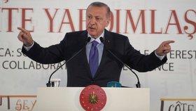 Turecký prezident Recep Tayyip Erdogan (19. 10. 2019)
