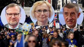 Čeští politici nejsou spokojeni, jak rozhodli britští poslanci ohledně brexitové dohody.