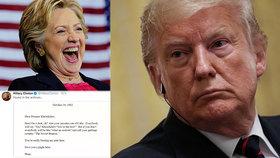 Clintonová na svém twitteru parodovala Trumpa.