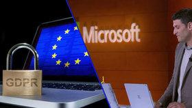 Microsoft zřejmě porušuje pravidla GDPR o ochraně osobních údajů uživatelů. Firma zřejmě změní podmínky.