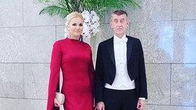 Premiér Andrej Babiš s manželkou Monikou na ceremoniálu k uvedení císaře Naruhita na trůn (22.10.2019)