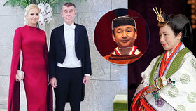 Babišovi vyrazili do Japonska: Na uvedení na trůn císaře Naruhita. Vpravo císařovna Masako