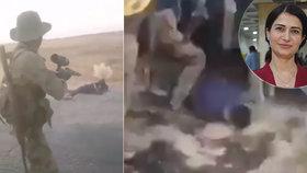 Popravy kurdských civilistů, které spojenci Turků o víkendu 12.-13. října zajali na severosyrské dálnici M-4.