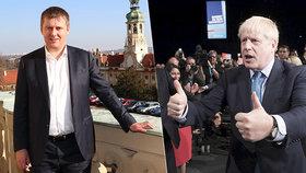 Britský premiér Boris Johnson a ministr zahraničí Tomáš Petříček
