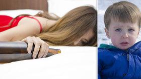 Pitím rodičů často velmi trpí děti (ilustrační fotografie)