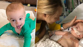 Michael (10 měs.) po zástavě srdce upadl do kómatu a lékaři se obávali, že se neprobere. Chlapec však po pěti dnech otevřel oči a usmál se na rodiče.