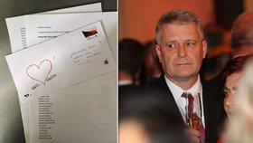 Stanislav Grospič (KSČM) a jemu adresovaný dopis.