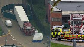 Britská policie pustila tři lidi zadržené kvůli mrtvým v kamionu