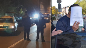 Policisté na místě činu, kde došlo k pokusu o vraždu.