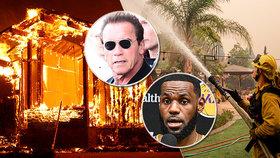 Před plameny v Kalifornii evakuovali i Arnolda Schwarzeneggera či LeBrona Jamese