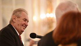 Recepce po udílení státních vyznamenání 2019: Miloš Zeman