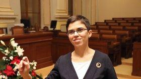 Poslankyně Olga Richterová (Piráti) ve Sněmovně