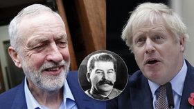 Britský premiér Boris Johnson přirovnal opozičního lídra Jeremyho Corbyna k Josifu Stalinovi.