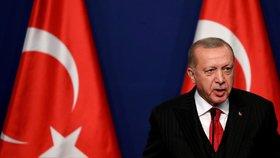 Turecký prezident Recep Tayyip Erdogan během návštěvy Maďarska (7. 11. 2019)