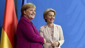 Německá kancléřka Angela Merkelová a šéfka příští Evropské komise Ursula von der Leyenová (8. 11. 2019)