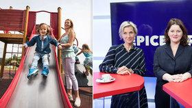 Ministryně Maláčová s náměstkyní Jirkovou promluvily v Epicentru o konkrétních bodech týkajících se zvýšení rodičovského příspěvku