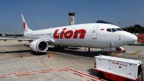 Letoun Boeing 737 MAX indonéské společnosti Lion Air.