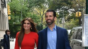 Donald Trump junior, syn amerického prezidenta, s přítelkyní Kimberly