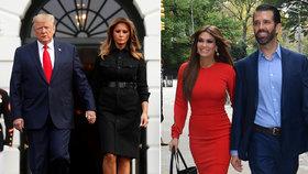 Donald Trump mladší s přítelkyní Kimberly, která nápadně připomíná macechu Melanii.