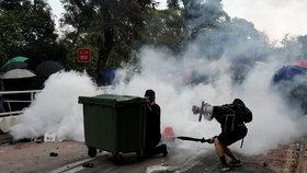 Další vlna demonstrací v Hongkongu (12. 11. 2019)