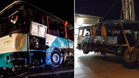 Svědci popsali hrůzy, které viděli na místě srážky autobusu a kamionu.