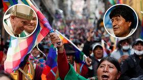 Bývalý bolivijský prezident Evo Morales hodlá požádat OSN a možná i papeže Františka, aby se pokusili urovnat konflikty v jeho zemi.