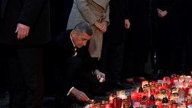 Premiér Andrej Babiš (ANO) na Národní třídě (17. 11. 2019)