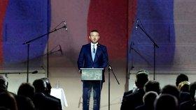 Slovenský premiér Peter Pellegrini se zúčastnil společně s ostatními  členy V4 oslav k výročí sametové revoluce. Promluvil v Národním muzeu v Praze.
