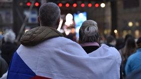 Oslavy 17. listopadu v Brně.