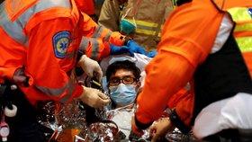 Spousta demonstrantů potřebovala lékařské ošetření