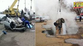 Poškozený horkovod uvařil zaživa posádku automobilu.