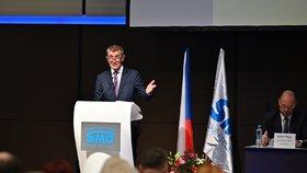 Premiér Andrej Babiš (ANO) na setkání se zástupci Svazu měst a obcí (21. 11. 2019)