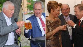 Duel tří prezidentů: Havel v průzkumu skončil první, Klaus druhý, Zeman až třetí