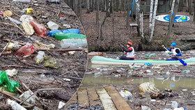 Závody vodáků na Slovensku připomínaly ekologickou katastrofu. V přehradě bylo neskutečné množství nepořádku.