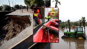 Záplavy v Řecku.